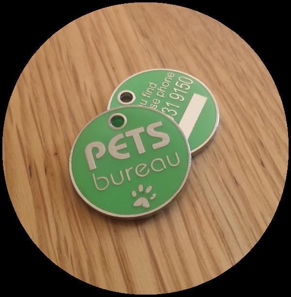 Pets Bureau ID tag